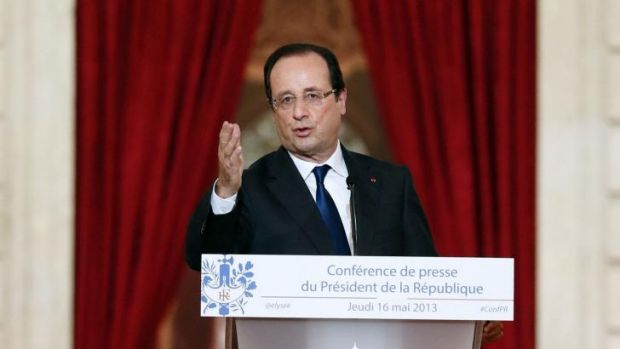 Scandal: French President Francois Hollande.