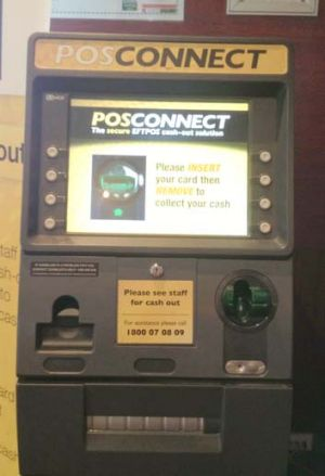The PosConnect system helps gamblers access cash.