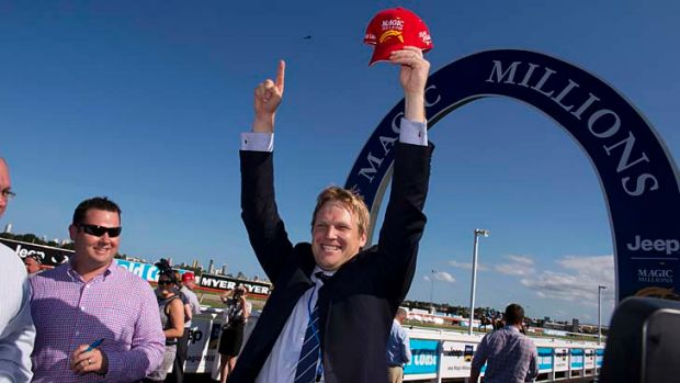 Trainer Bjorn Baker is over the moon after Unencumbered won on Saturday.