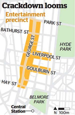 Restrictive: Sydney's night life may undergo drastic changes to improve safety.