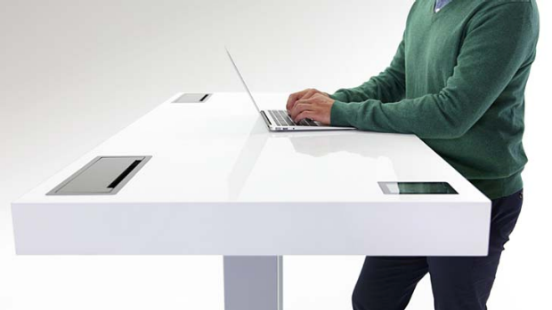 The Stir table nudges you to stand up.