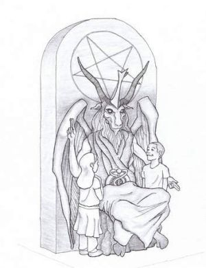 Proposed monument that the New York-based Satanic group wants to place at the Oklahoma state Capitol.