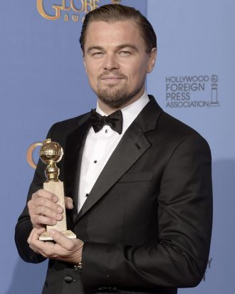 Best actor (drama) winner Leonardo DiCaprio.