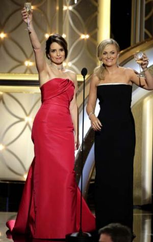 Amy Poehler and Tina Fey host the 71st annual Golden Globe Awards in Beverly Hills, California.