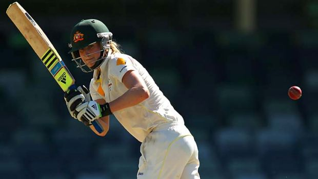 All-round effort: Ellyse Perry took eight wickets and scored 102 runs in a losing side.