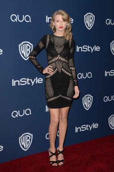 Taylor Swift at the InStyle and Warner Bros. party.