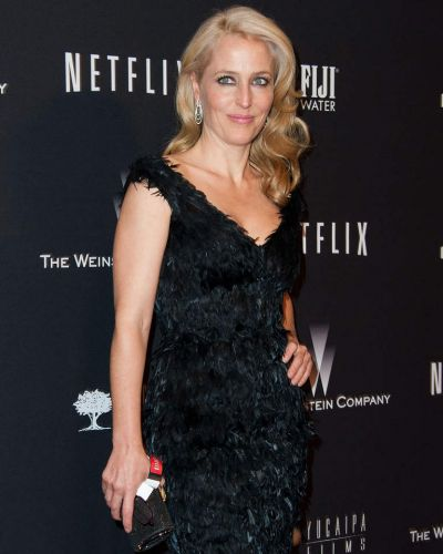 The Fall star Gillian Anderson attends The Weinstein Company & Netflix's 2014 Golden Globes After Party.