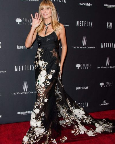 Model Heidi Klum attends The Weinstein Company & Netflix's 2014 Golden Globes After Party.