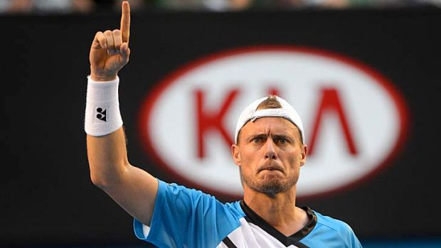 Lleyton Hewitt had his moments of ascendancy against Andreas Seppi.