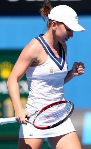 Simona Halep during her win at Melbourne Park on Tuesday.