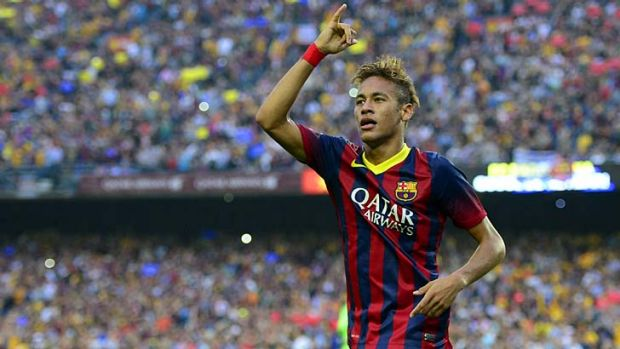 Dodgy deal: Barcelona's Brazilian star Neymar.