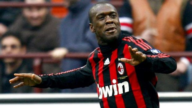 Back in (red and) black: Clarence Seedorf, who won the Champions League twice with AC Milan as well as Ajax and Real ...