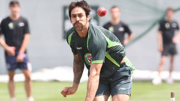 The colour of the ball has changed, but Mitchell Johnson hopes his results won't.