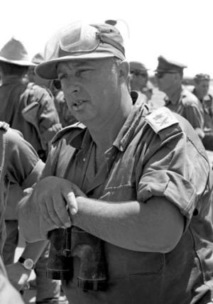 Ariel Sharon as a reservist general during Israel's Six-Day War in 1967.