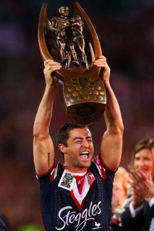 Record chaser: Roosters stalwart Anthony Minichiello.
