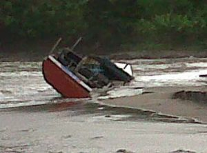 The vessel washed up on the southern coast of Java