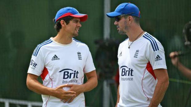 Rift: Alastair Cook and Kevin Pietersen.
