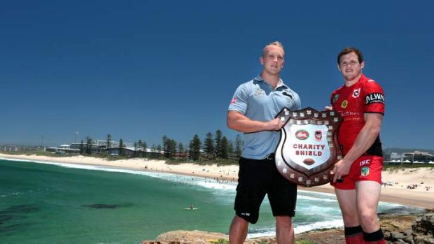Captains pick: Jason Clark and Brett Morris will face off in Wollongong next month.