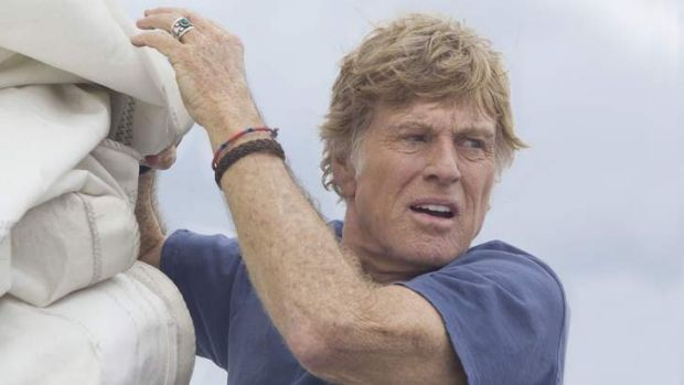 Not a lot of script ... Robert Redford in <i>All is Lost</i>.