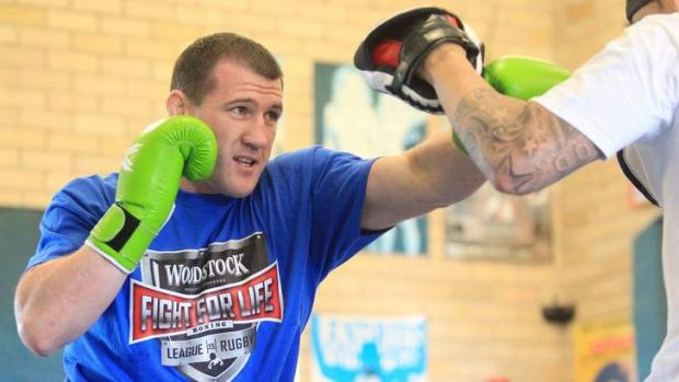 Personal challenge: Paul Gallen can't wait to step into the ring for his pro boxing debut in February.