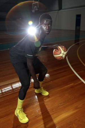 Sudanese refugee Bul Kuol wants to use basketball to further his academic career.