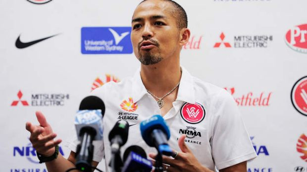 Love affair: Wanderers favourite Shinji Ono fronts the media on Friday to explain the reasons behind his return home to ...