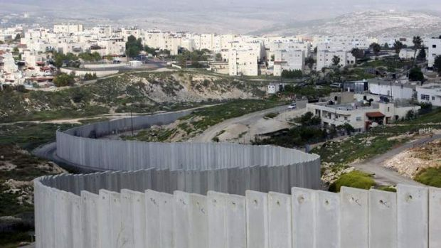 Obstacle: Pisgat Zeev, a settlement in occupied east Jerusalem, is protected by Israel's separation barrier.
