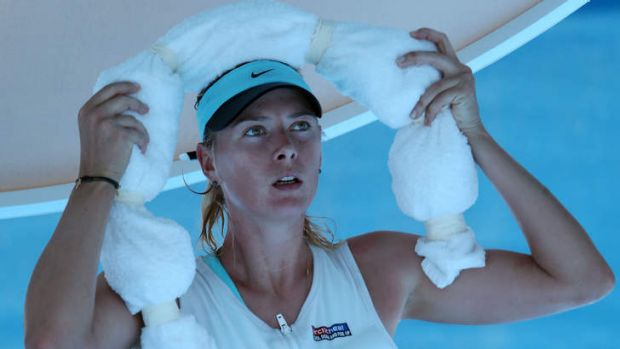 """""""There are just a lot of questions in the air that maybe should be solved"""": Maria Sharapova of Russia."""