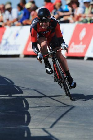 Cadel Evans has been affected by the heat.
