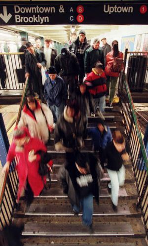 """Subways are like mobile emergency wards in crisis, with passengers waiting in lines like patients, waiting for a doctor ..."