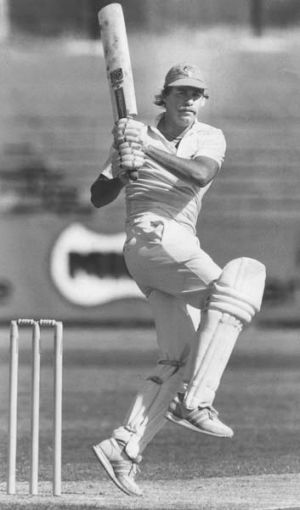 Well played: David Hookes in 1983.
