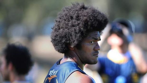 Brumbies player Henry Speight sporting an afro.