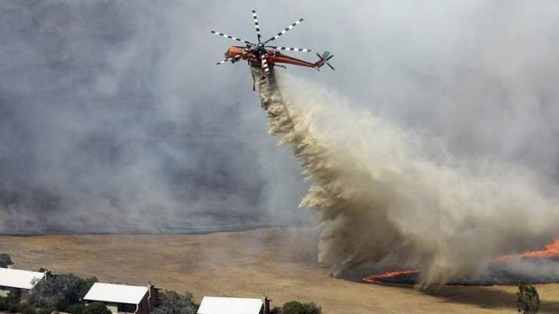 Bushfires are one of the threats to water supplies.