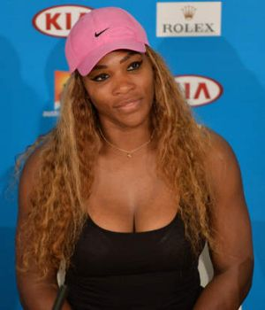 Looking forward: Serena Williams wants to see her ''son''.