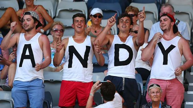 Free tickets: Andy Murray's Australian cheer squad.