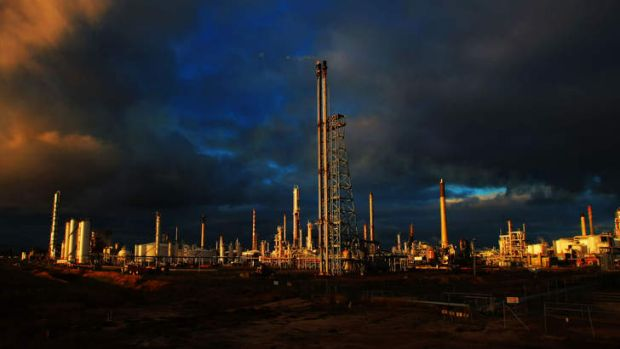 On the market: Shell's oil refinery in Geelong.
