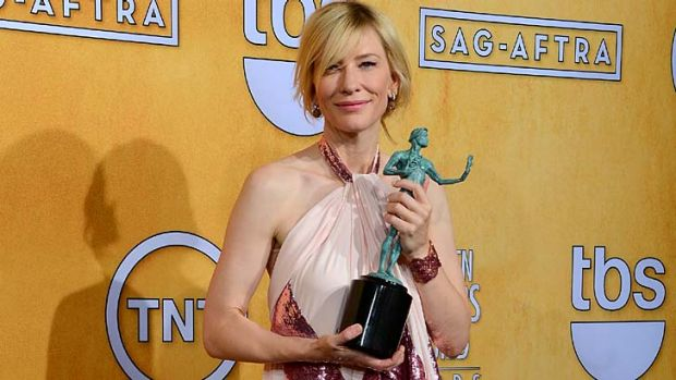 Good year for women: Cate Blanchett won the best actress award for <em>Blue Jasmine</em> at the Screen Actors Guild Awards.
