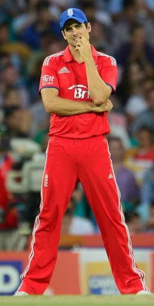 It's all going wrong: Alastair Cook.