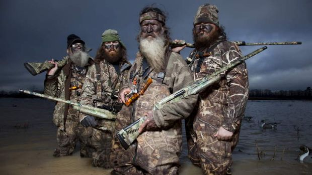 Homophobia row: <i>Duck Dynasty</i> family is headed up by Phil Robertson (centre left).