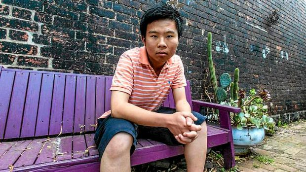 Student Gary Mao at his home in Coburg.