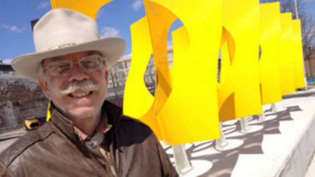 Artist Jon Barlow Hudson created the Paradigm sculpture for World Expo '88.