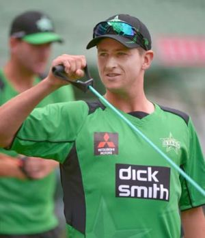 Still green: James Muirhead is a Twenty20 bolter for Australia.