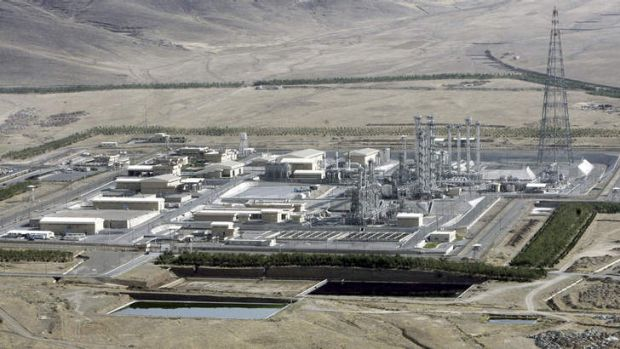 A heavy-water production plant in the central Iranian town of Arak in 2006.