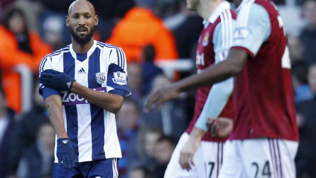 Charged: West Bromwich Albion's French striker Nicolas Anelka.