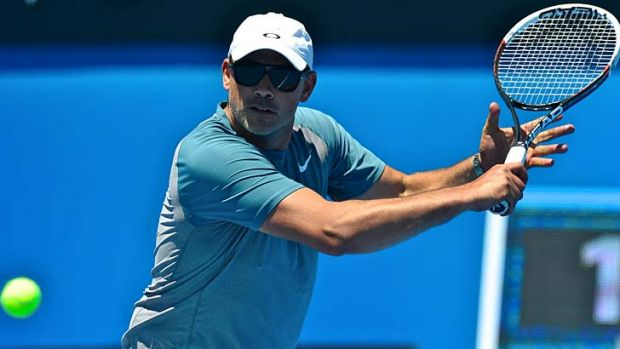 Bouncing back: Andrew Florent on court.