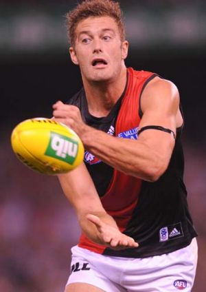 Tom Bellchambers' injury is set to stress the Bombers' ruck stocks.