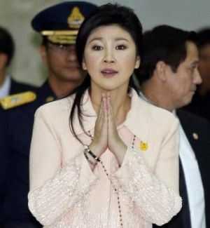 Under pressure ... Thailand's Prime Minister Yingluck Shinawatra.