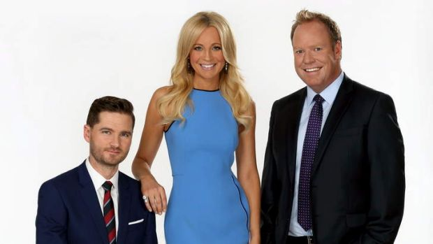 <i>Project</i> people: Charlie Pickering, Carrie Bickmore and Peter Helliar.