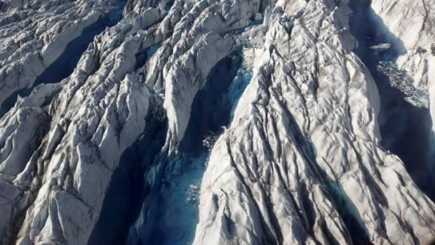 """Melting ice: """"Climate change gives us a new chance to survive,"""" says Greenland PM Aleqa Hammond."""