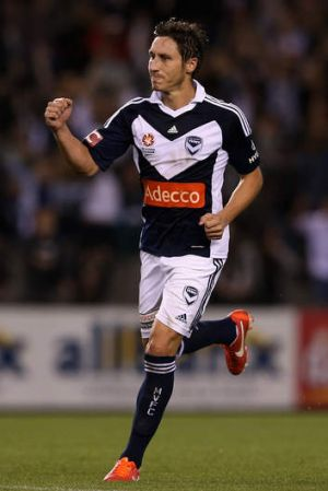Staying put: Melbourne Victory's Mark Milligan.